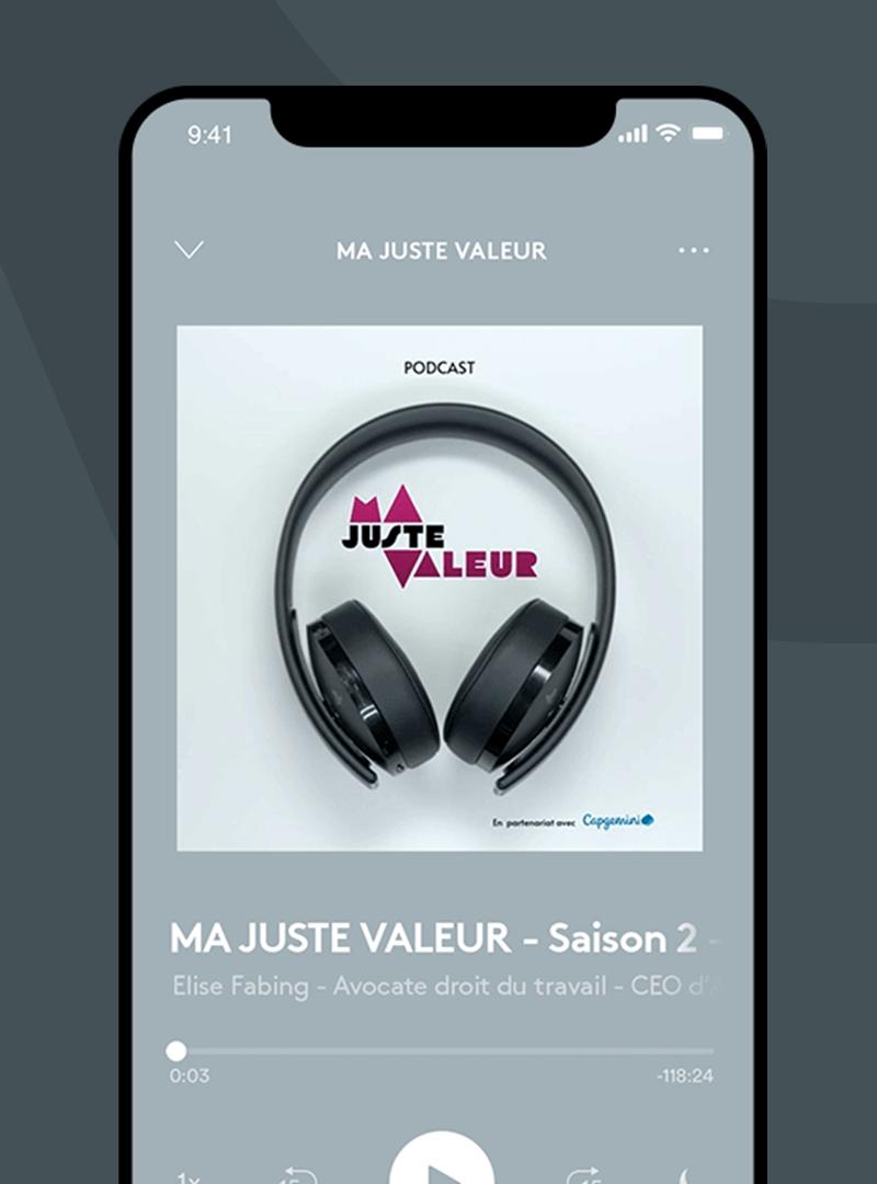 Podcast Ma Juste Valeur avec Elise Fabing